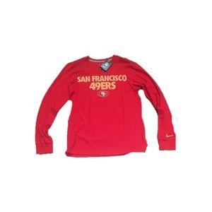 San Francisco 49ers Nike Men's L/S Shirt Small